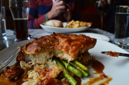 """Daily pot pie, this day was chicken & asparagus. A real """"stick to the ribs"""" kind of meal."""